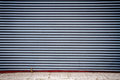 Grooved metal wall dark gray industrial Royalty Free Stock Photos