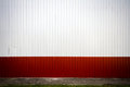 Grooved metal wall red and white industrial Royalty Free Stock Photos