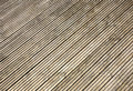Grooved wooden garden decking. Stock Images