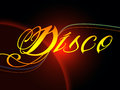 Groovy disco means dancing party and music meaning Royalty Free Stock Photo