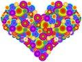 Groovy Heart Royalty Free Stock Photo