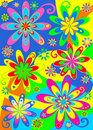 Groovy hippie flower power Royalty Free Stock Photo