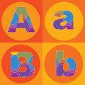 Groovy lines ALPHABETS quads Stock Photography