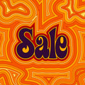 Groovy Sale - Warm Royalty Free Stock Photos