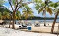 Gros Islet Beach, Saint Lucia Royalty Free Stock Photo