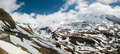 Grossglockner high alpine road in may panoramic view of alps mountains and austria Stock Image