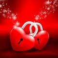 Grossy heart lock