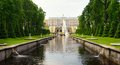 Grote cascade in pertergof heilige petersburg rusland Stock Afbeelding
