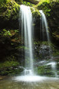 Grotto falls great smoky mountain national park is a foot waterfall in tennessee usa Stock Photos