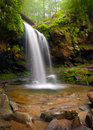 Grotto Falls Smoky Mountain Waterfall Royalty Free Stock Photo