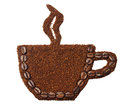 Ground coffee in the shape of a cup of coffee Royalty Free Stock Photo