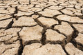 Ground cracked with heat Royalty Free Stock Photo