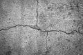 Ground cracking concrete