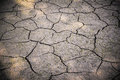 Ground cracks with on the with dry Royalty Free Stock Photo