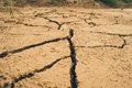 Ground cracks in the because of lack of water and thanks to a extremely dry summer Stock Images