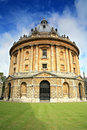 Ground level view of the Radcliffe Camera building Royalty Free Stock Photo