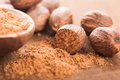Ground nutmeg Royalty Free Stock Photography