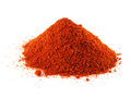 Ground red chili hot pepper hill of sweet paprika on white background isolated healthy spicy Royalty Free Stock Images