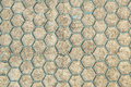 Ground for Street Road. Sidewalk, Driveway, Pavers, Pavement in Vintage Design Flooring Hexagon Pattern Texture Royalty Free Stock Photo