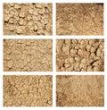 Ground textures set Royalty Free Stock Photo