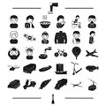 Ground, travel, treatment and other web icon in black style.rocket, transport, air icons in set collection.