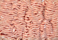 Ground turkey close view a top of lean freshly Royalty Free Stock Photos