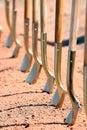 Groundbreaking Ceremony Shovels Royalty Free Stock Photo