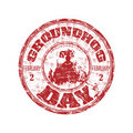 Groundhog day rubber stamp Royalty Free Stock Photos