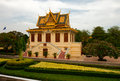 The grounds of the royal palace in phnom penh cambodia Royalty Free Stock Photo