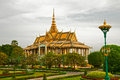 The grounds of the royal palace in phnom penh chan chhaya pavilion at cambodia Royalty Free Stock Photography