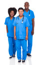 Group african healthcare workers isolated white background Royalty Free Stock Photo