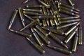 Group of  ammunition  223 rem Royalty Free Stock Photo