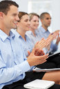 Group applauding business presentation Royalty Free Stock Photography