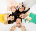 Group of asian young people Stock Images