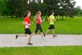 Group of athletes jogging in the park Royalty Free Stock Photography