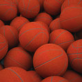 Group basketballs groups of classical d render of studio Royalty Free Stock Photo