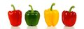 Group of bell peppers row a variety red green and yellow Royalty Free Stock Photography