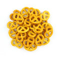 Group of bite sized pretzels Royalty Free Stock Image