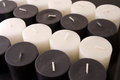 Group of black and white candles Stock Image