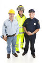 Group of Blue Collar Workers Royalty Free Stock Image
