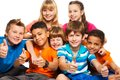 Group of boys and girls Royalty Free Stock Photo