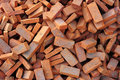 Group of bricks square construction materials Stock Photography