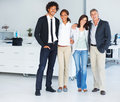 Group of business colleagues standing tog Royalty Free Stock Image