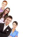 Group of business people business team isoleted over white background Stock Image