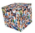 Group of business people collage cube background Stock Images
