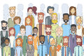 Group of Business People Face Big Crowd Businesspeople Diverse Ethnic Royalty Free Stock Photo