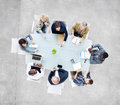 Group of business people having a meeting around the conference table Royalty Free Stock Photography