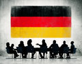 Group of business people having a meeting corporate regarding the national issues germany Royalty Free Stock Images