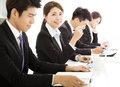 Group of business people having meeting together Royalty Free Stock Photo