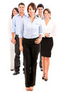 Group business people looking happy isolated over white Royalty Free Stock Photography